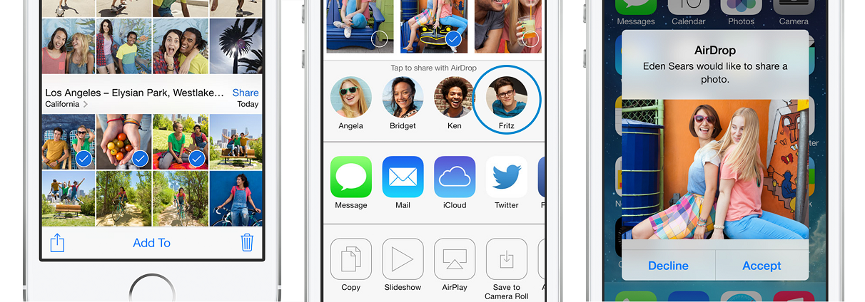 airdrop screenshot ios7 iphone