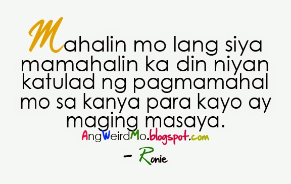Sweet Love Quotes Tagalog
