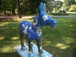 3-D Mosaic Donkey at a private residence outside of St. Michaels