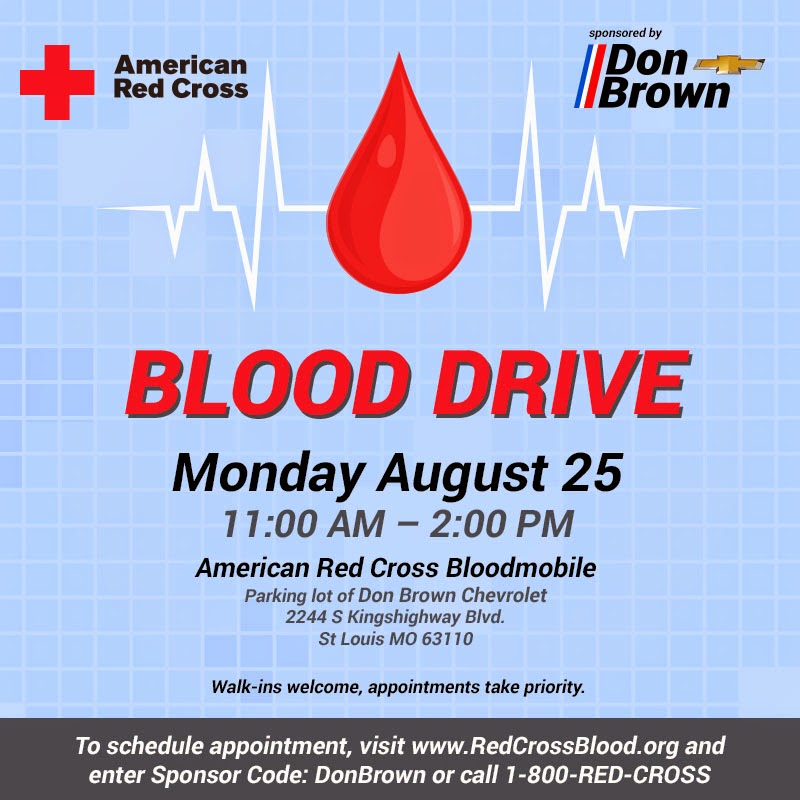 Red Cross Bloodmobile Headed to Don Brown Chevrolet on August 25th