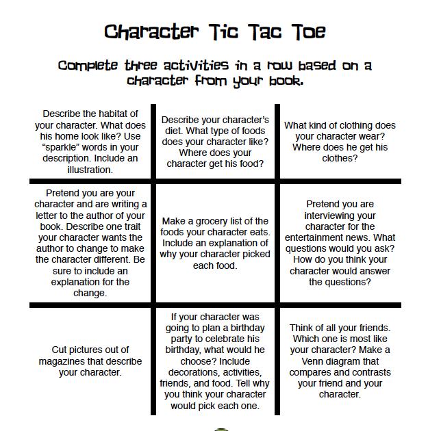 tic tac toe book report projects