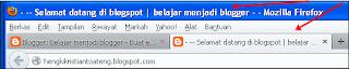 cara membuat teks berjalan di menu bar