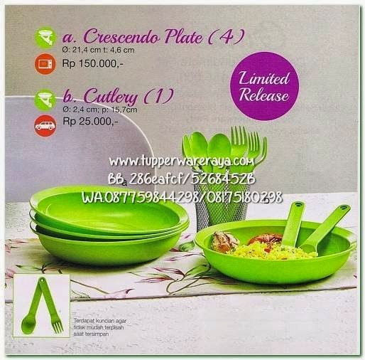 Tupperware Promo April 2015 Crescendo Plate Cutlery