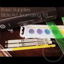 Bible Art Journaling 101 Supply List