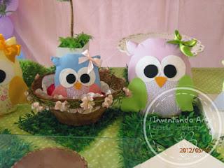 festa infantil corujas corujinhas