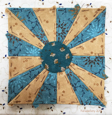 Dear Jane Quilt - Block E5 Rising Sun