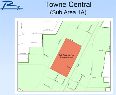 Towne Central map