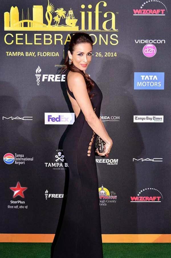 Malaika Arora Khan in Shivan & Narresh outfit at IIFA 2014.