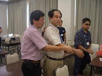 二木先生と小林先生に中尾先生が直接指導