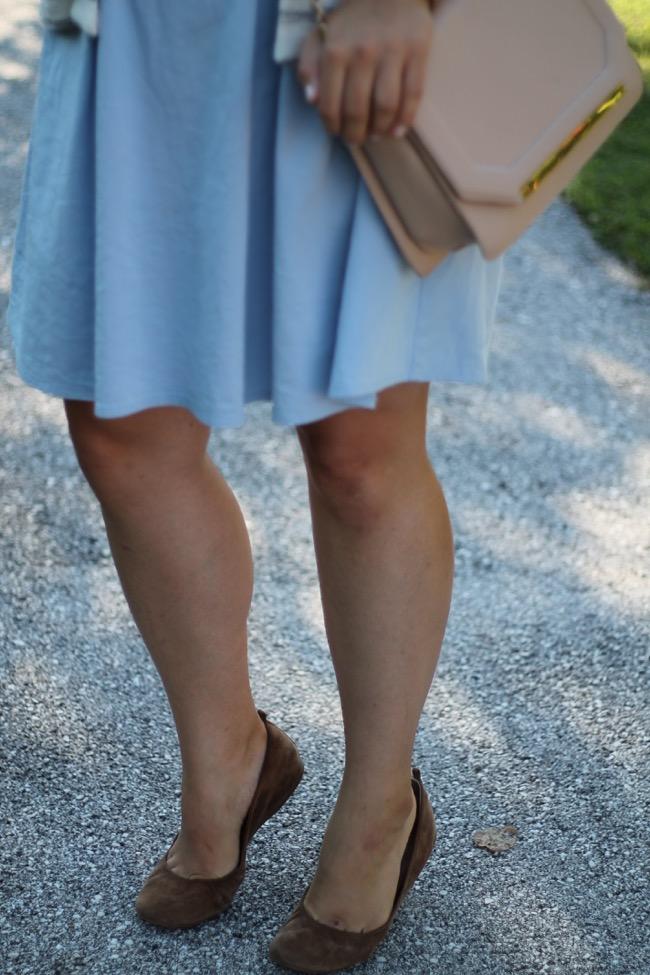 lavender star - svetlana - fashionblogger austria oesterreich - orsay hellblaues kleid - gestreifte jacke h und m - orsay umhaenetasche beige - fossil gold uhr - ballerinas j crew beige