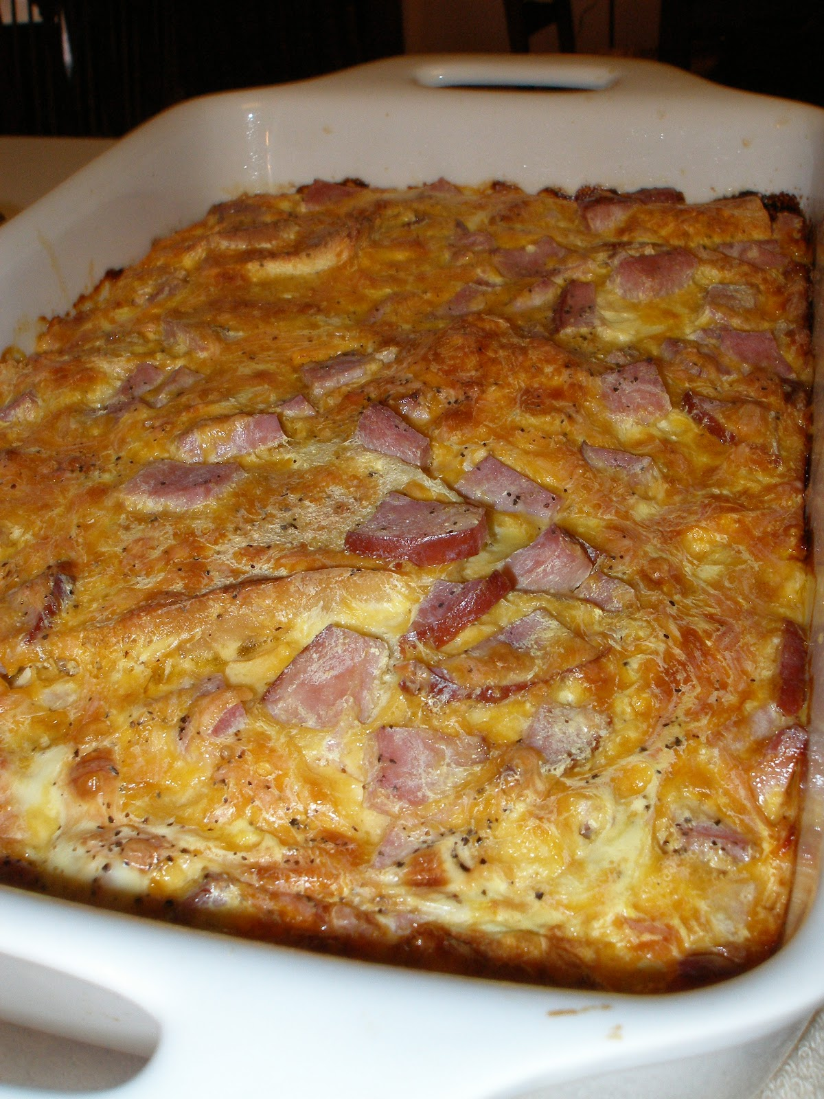 angel food garden: ham and cheese breakfast casserole