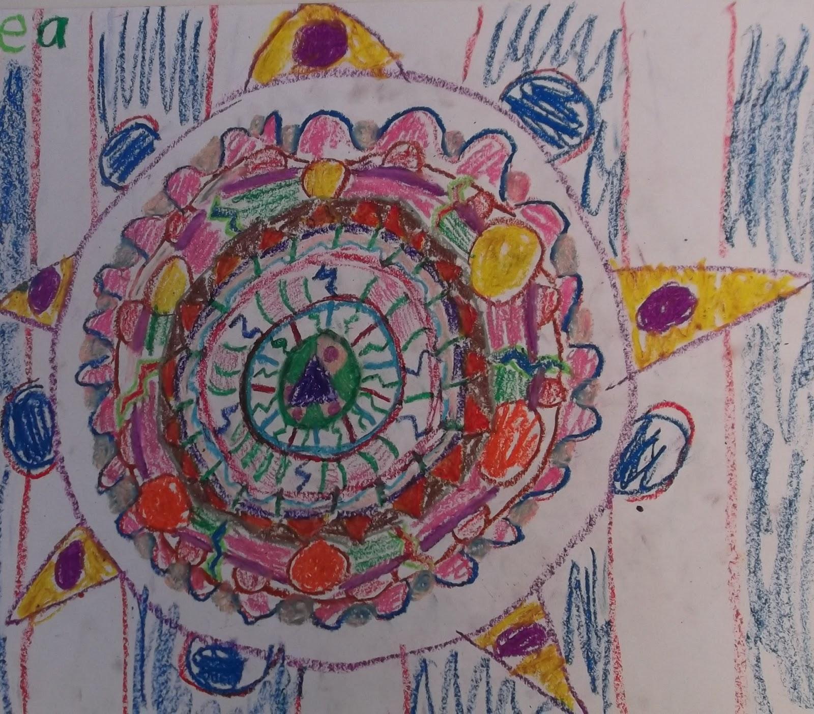 Aztec Calendar Art Lesson : Artists for kids oil pastel abstract aztec calendars