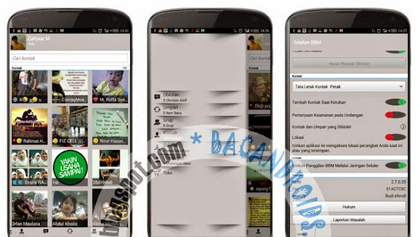 BBM Mod Android V2.7.0.20 Skin Gray Shadow New Version