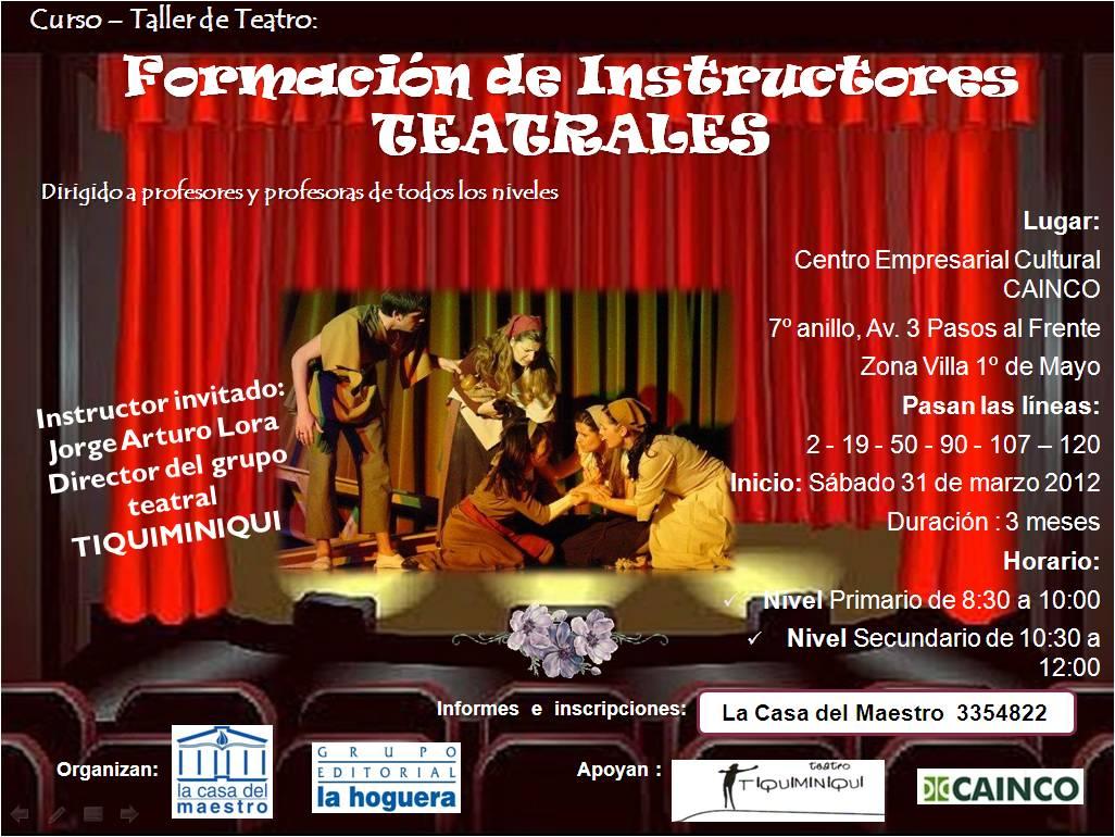 La casa del maestro curso taller de teatro para maestros 2012 - La casa del maestro ...