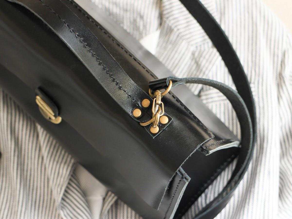 Кожаный саквояж с двумя ручками