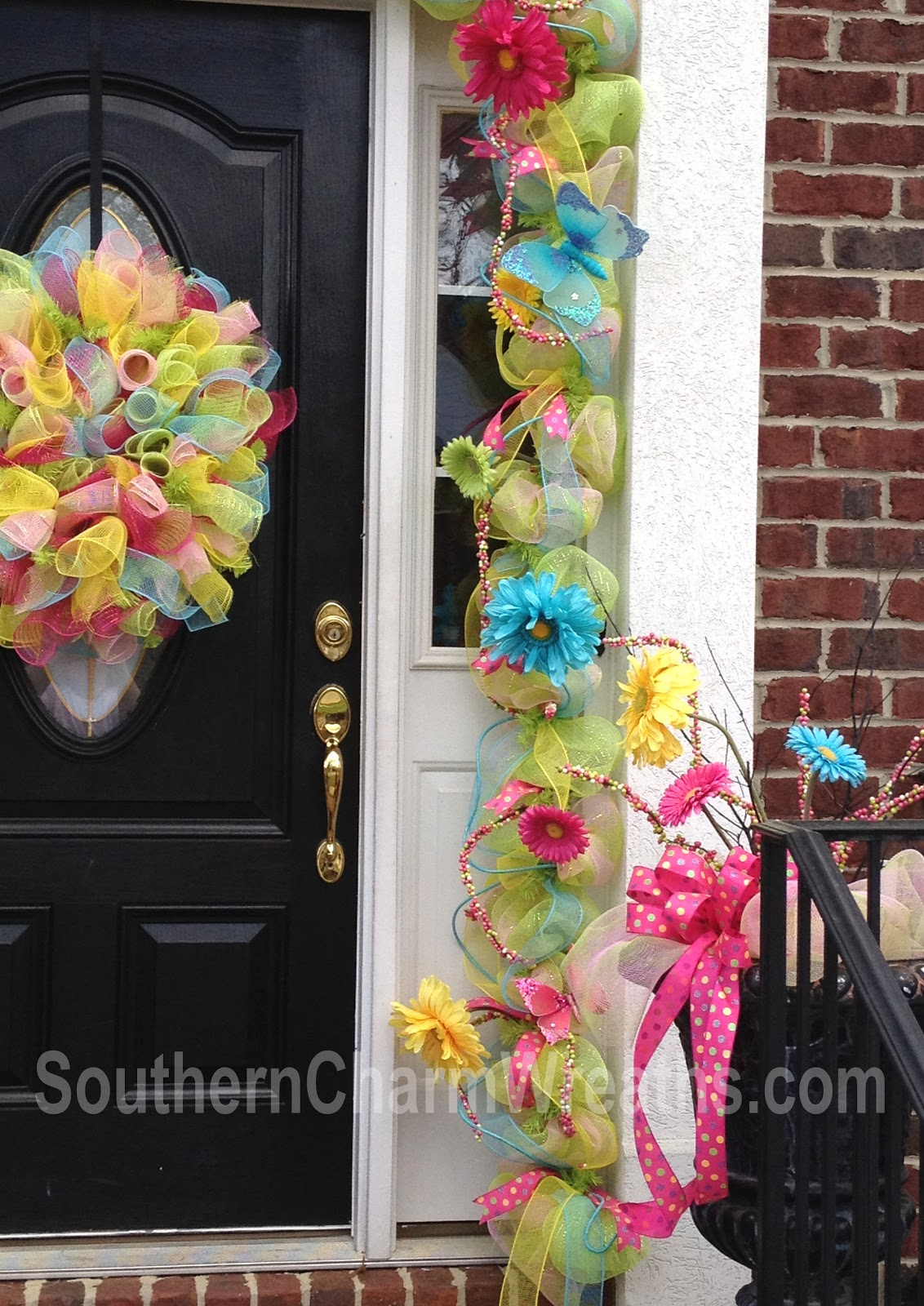 Spring deco mesh garland for Deco decorations