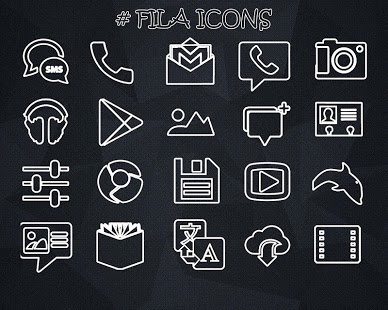 FILA ICONS APEX/NOVA/ADW/GO v1.1.1 Apk Download