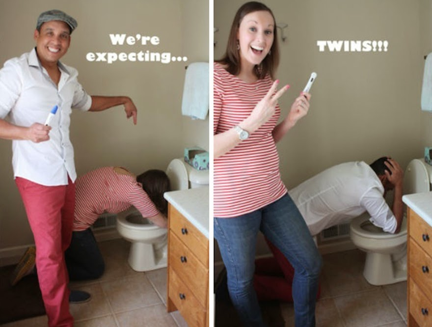 30 Of The Most Creative Baby Announcements Ever - We're Expecting Twins