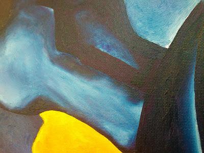 Detalle de Caballos azules