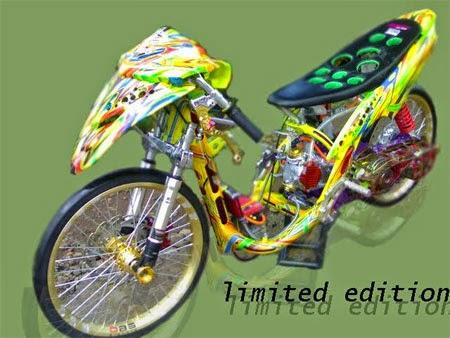 modifikasi motor drag beat