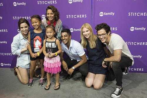 Stitchers cast Emma Ishta, Kyle Harris, Ritesh Rajan, Salli Richardson-Whitfield and Allison Scagliotti at the D23 expo 2015