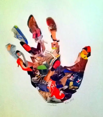 Shoe Hand Collage