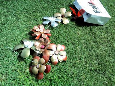 flores de plástico reciclado chacabuco