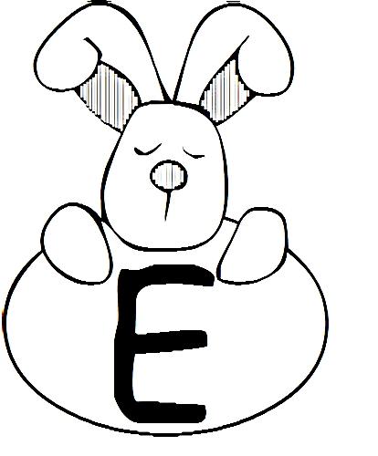 a desenhar letras do alfabeto letra E colorir
