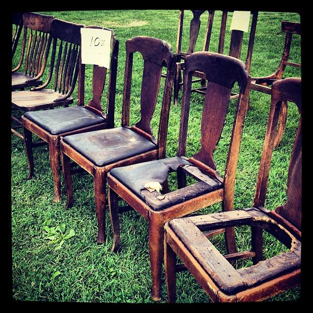diy bench project how i rescued vintage yard sale chairs raising