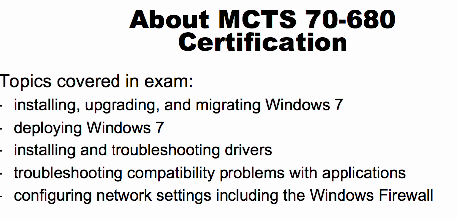 70 680 Windows 7 Configuring Exam 70 680
