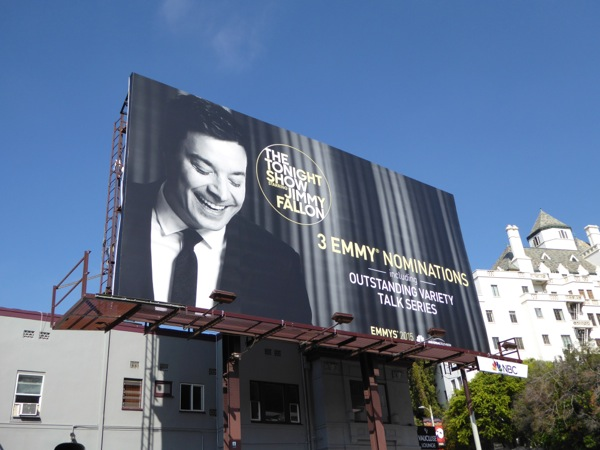 Tonight Show Jimmy Fallon Emmy 2015 billboard