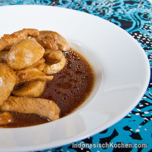 Huhn Champignon indonesisch kochen