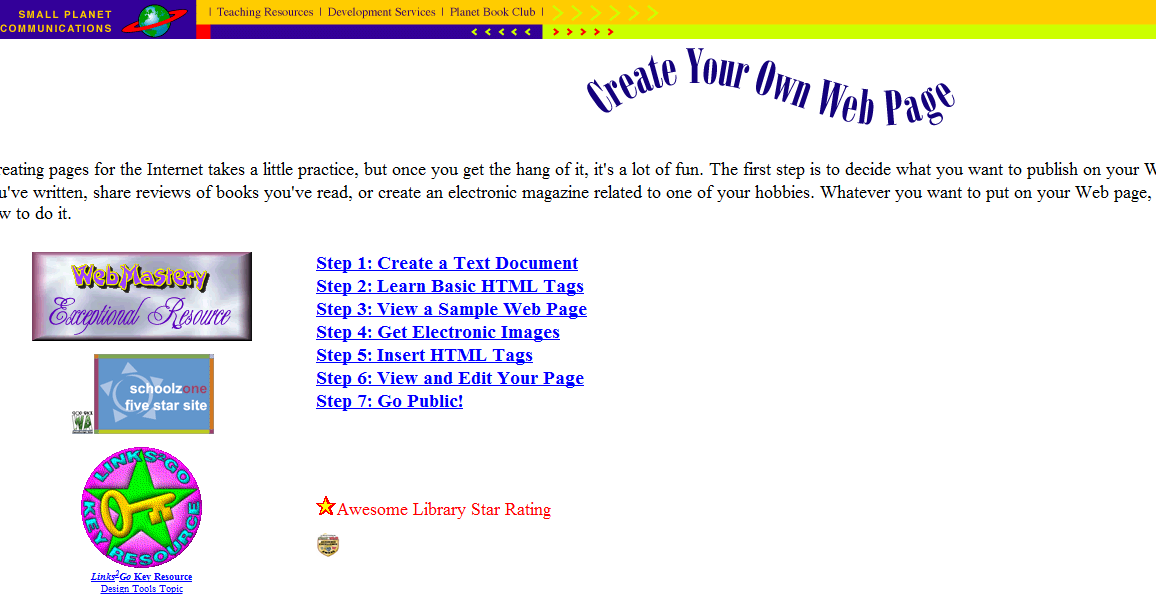 Tech coach create your own web page Start my own website