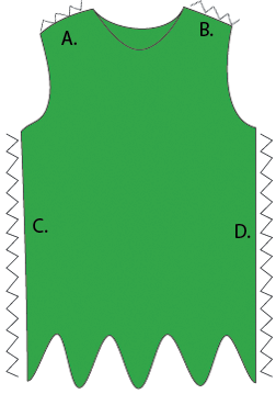 The roots of design how to make an easy elf or peter pan for Peter pan shirt pattern