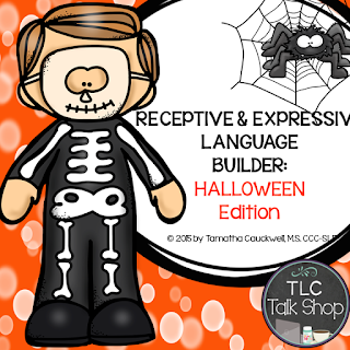 with it you can target receptive identification labeling description prepositions pronouns basic sentence structures following directions - Halloween Following Directions