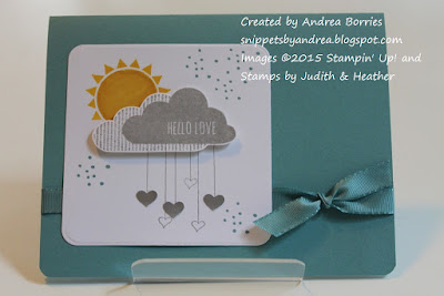 Love card made with Hello Love stamp set.