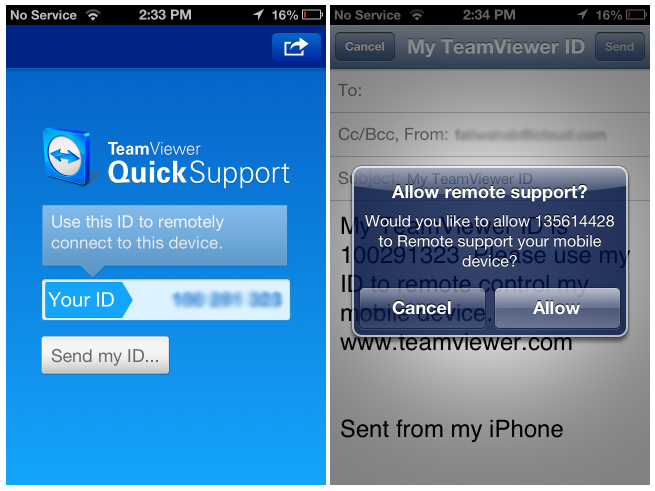 Teamviewer Android Control