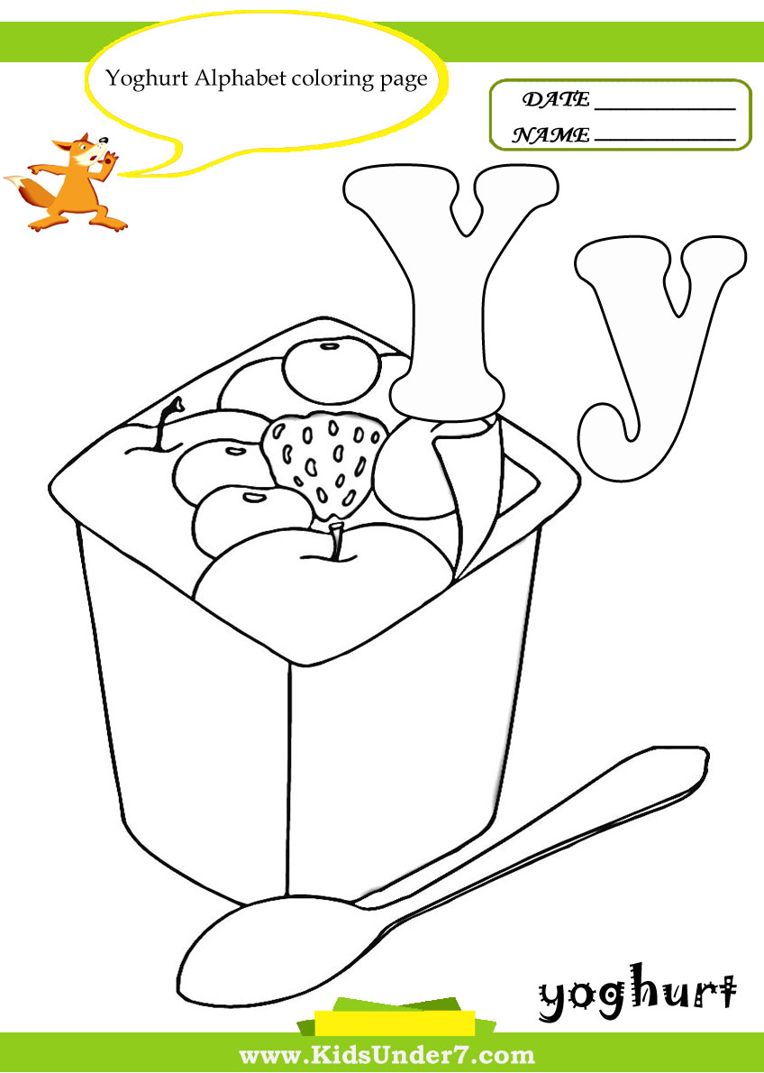 Letter Y Worksheets And Coloring Pages