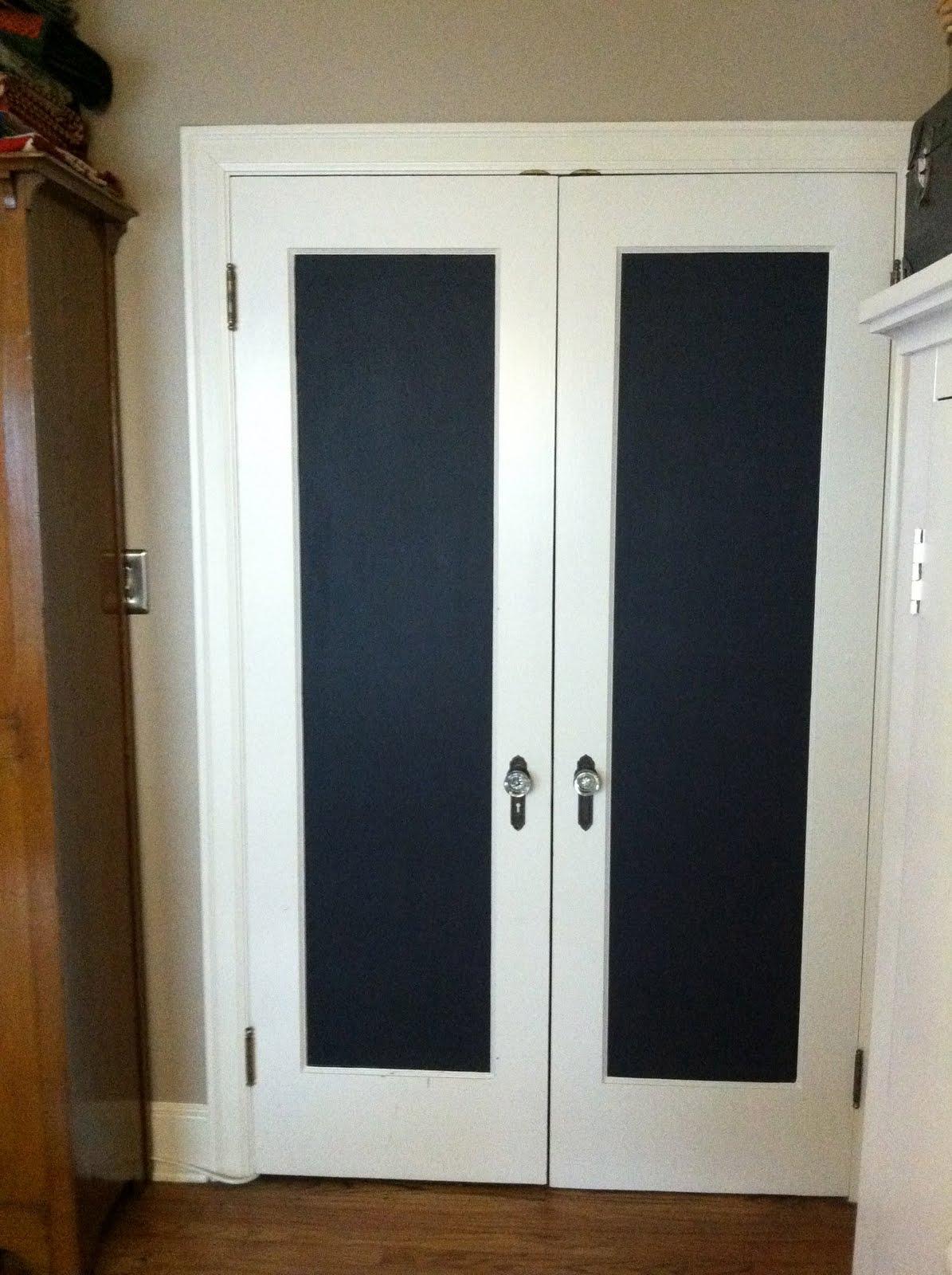 walk in closet door kathy schmitz chalkboard doodle