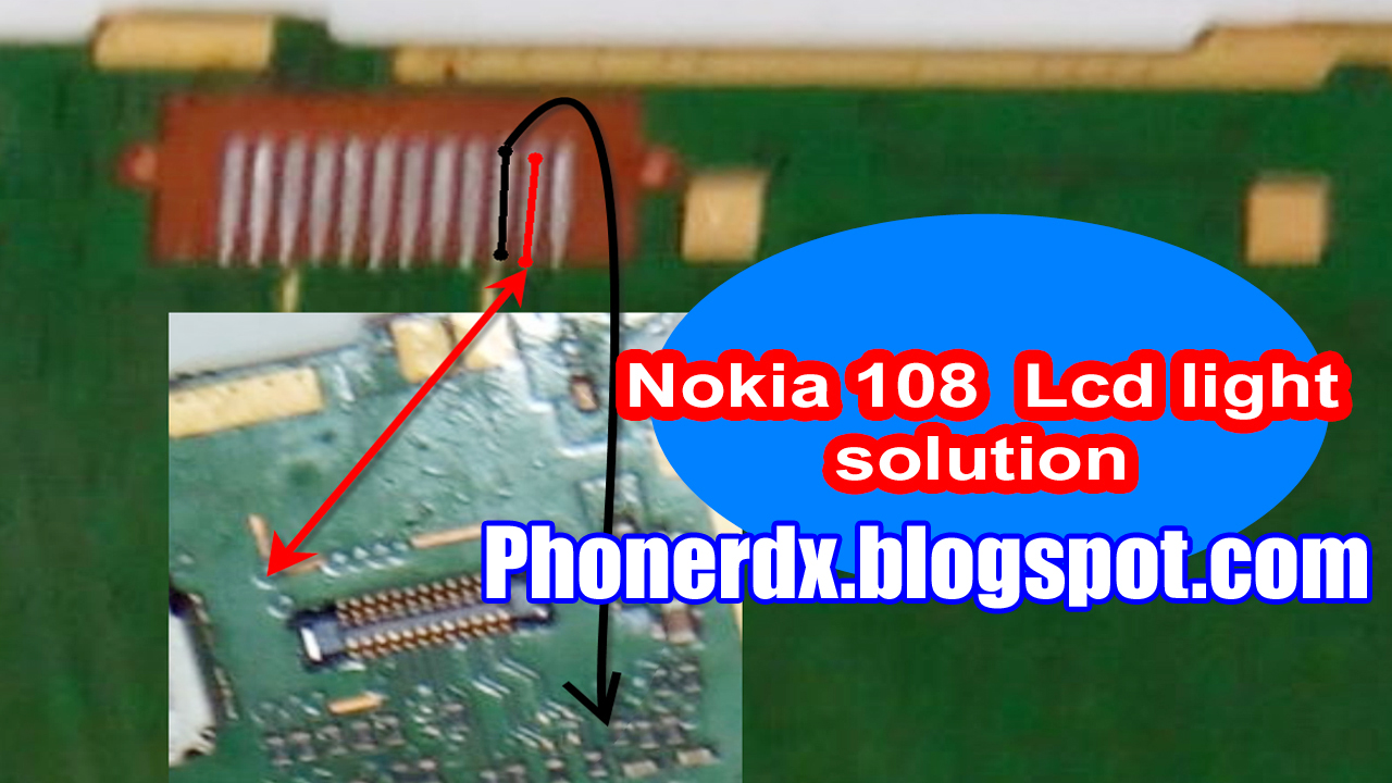 Nokia 108 LCD Way And Display Light Jumper Solution - PHONERDX