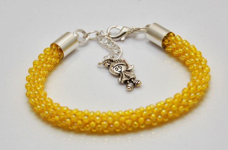 bransoletka koralikowa szydełkowa bead crochet bracelet 4
