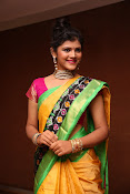 Sangeetha Kamath dazzling saree photos-thumbnail-19