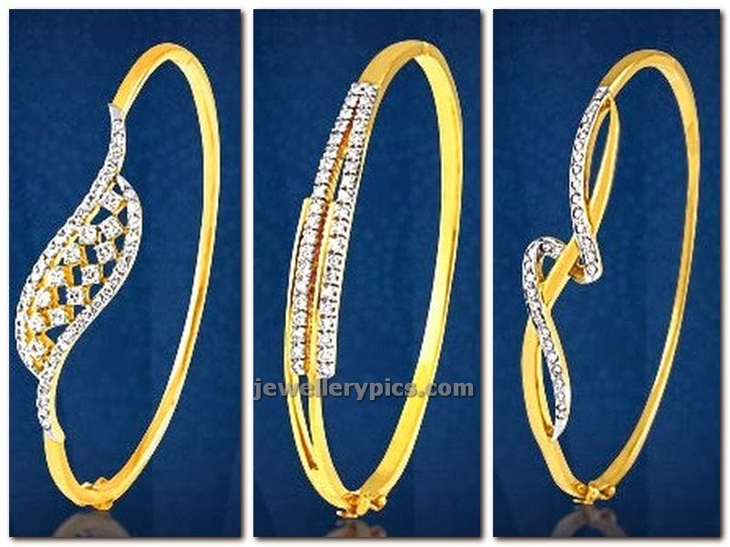 diamond studded gold bracelts by PNG diamonds