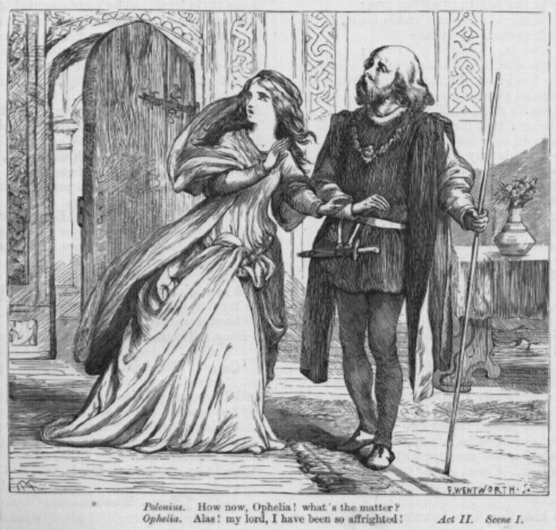 a focus on the character polonius in william shakespeares hamlet Main character issue hamlet's essential nature is revealed in and william hazlitt continues: at polonius is certain hamlet is driven mad by his love for.