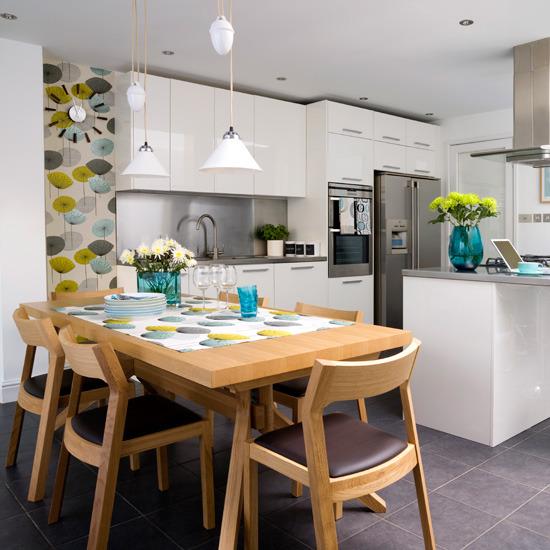 New Home Interior Design: Kitchen wallpaper ideas