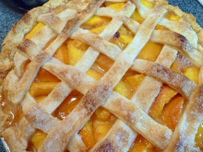 macerate the peaches and boil the juices to concentrate them. This ...