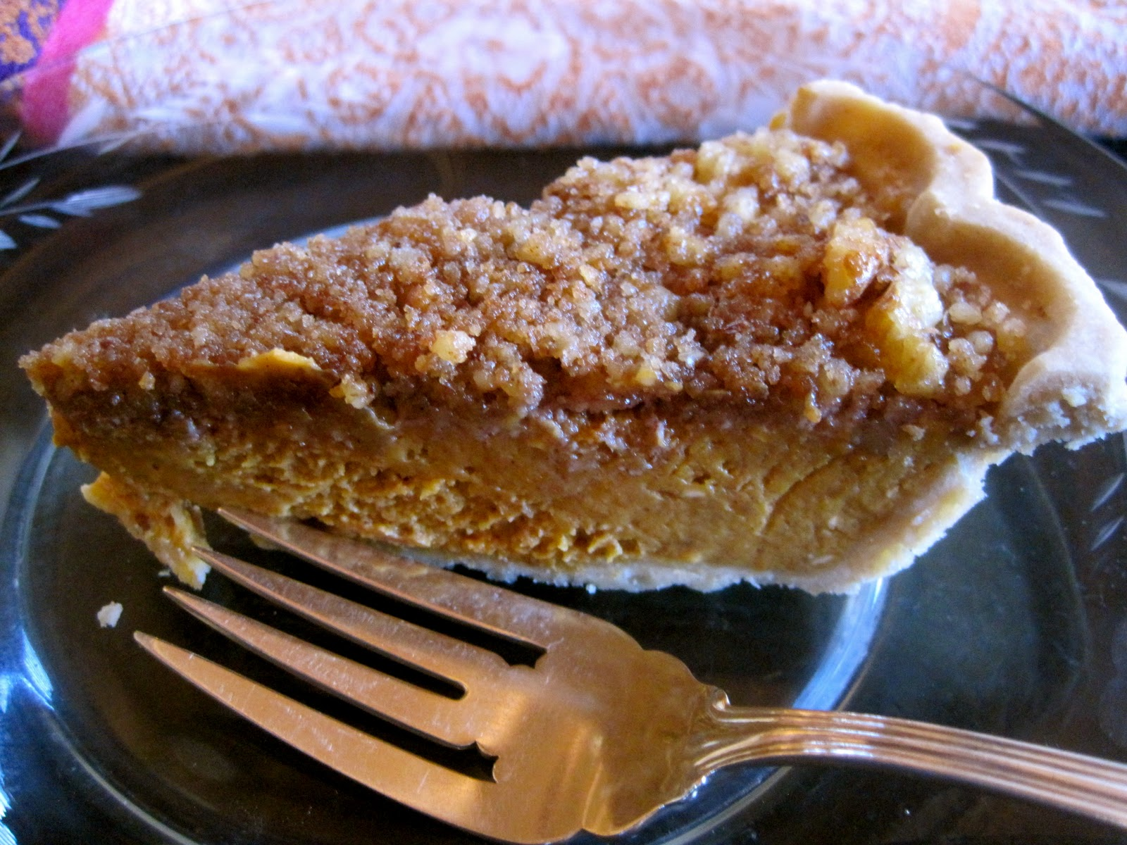 ... gluten-free: Agave Pumpkin Pie with Walnut-Brown Sugar Topping