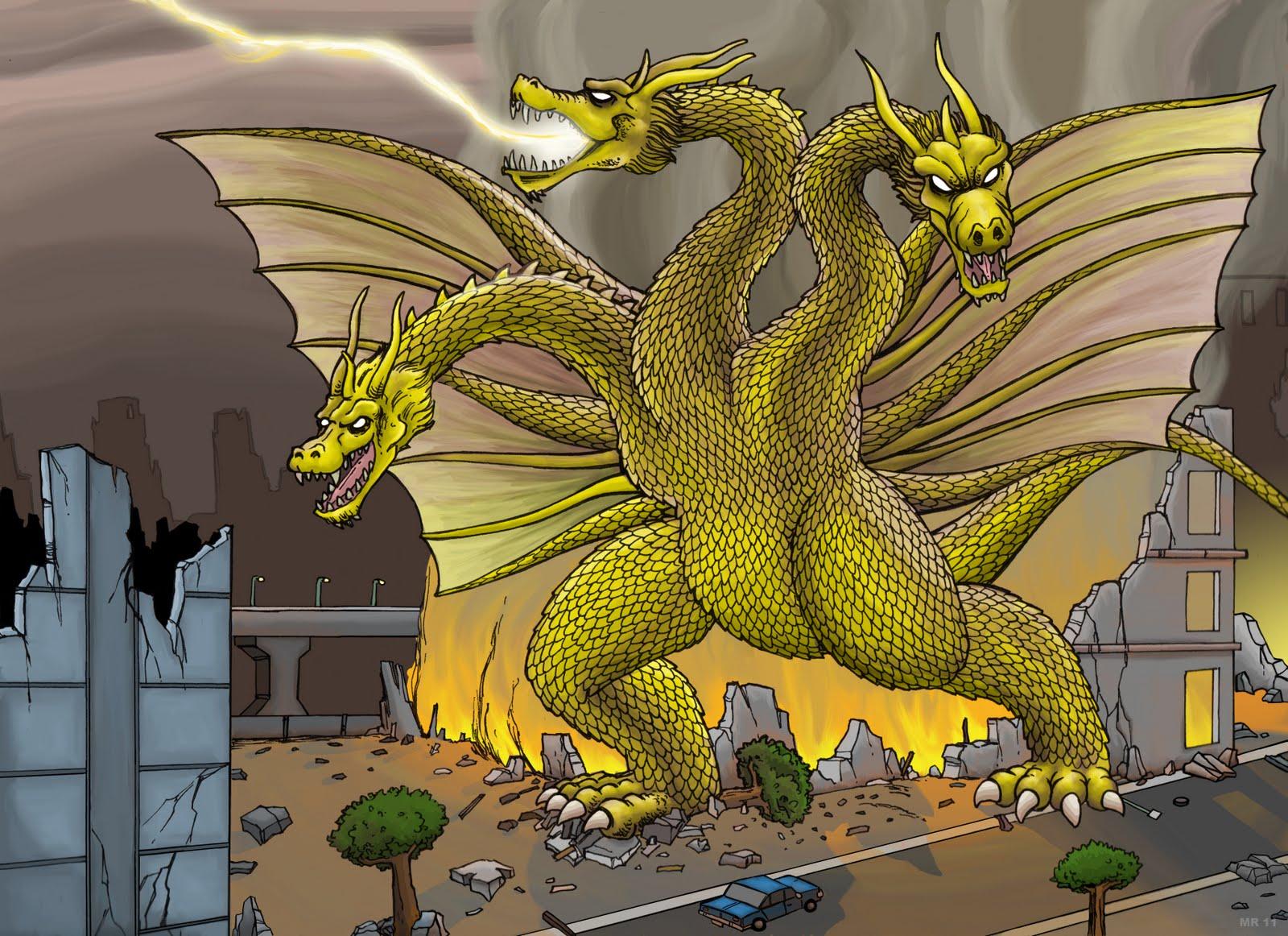 three headed dragon in godzilla