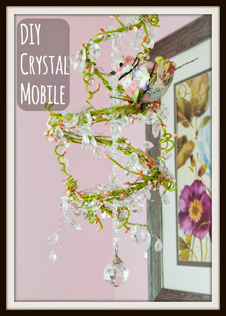 Gorgeous DIY nursery mobile crib crystal spiral princess
