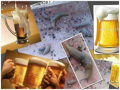 Va de llimacs: La cervesa els porta de cap, i són mal nededors...